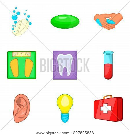 Medical Expertise Icons Set. Cartoon Set Of 9 Medical Expertise Vector Icons For Web Isolated On Whi