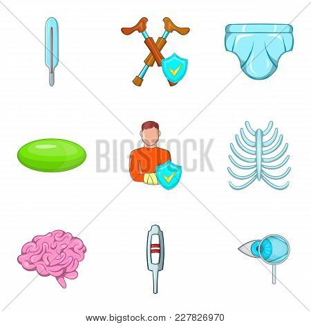 Dispensary Icons Set. Cartoon Set Of 9 Dispensary Vector Icons For Web Isolated On White Background