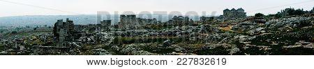 Panorama Of Ruined Abandoned Dead City Serjilla, Syria