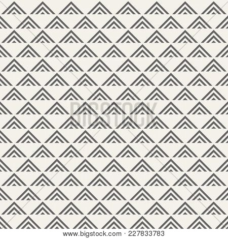 Vector Seamless Pattern. Regularly Repeating Geometric Tiles Of Striped Triangles. Abstract Geometri