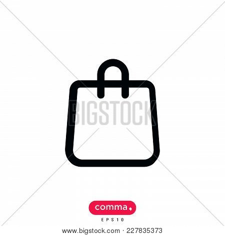 Shopping Bag Icon Isolated On White Background. Shopping Bag Icon Modern Symbol For Graphic And Web