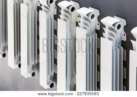 Radiator Heating Disassembled Into Parts And Parts. A Sample Of The Product