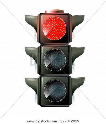 Traffic Lights, 10eps. Green Light. Red, Yellow Green Lights - Go Wait Stop