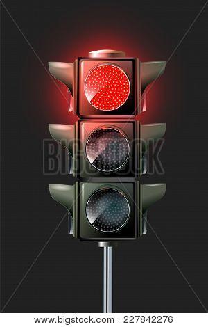 Vector Traffic Lamp Design.traffic Lights, 10eps. Green Light. Red, Yellow Green Lights - Go Wait St