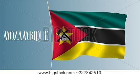 Mozambique Waving Flag Vector Illustration. Iconic Design Element As A National Mozambican Symbol