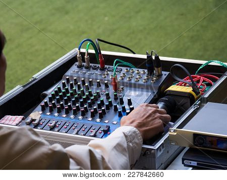 Sound Mixer Control Panel, Buttons Equipment For Sound Mixer Control, Sound Mixer Control For Live M