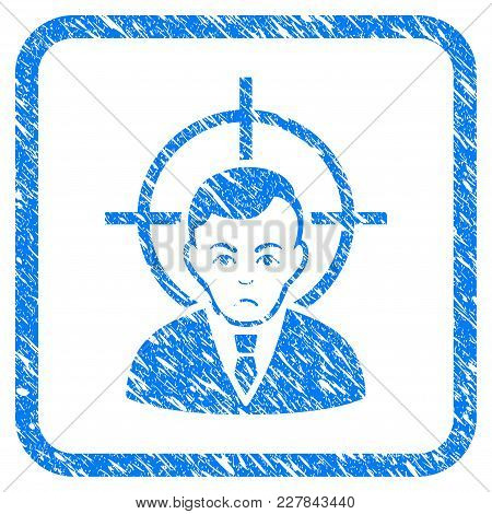 Victim Businessman Rubber Seal Stamp Watermark. Icon Vector Symbol With Grunge Design And Dirty Text