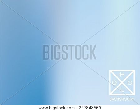 Blue Background. Iridescent Cover.  Abstract Neon Colors Foil.  Trendy Creative Vector Cosmic Gradie