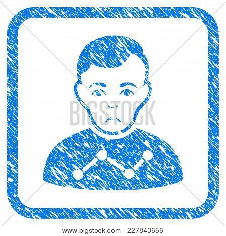 User Stats Rubber Seal Stamp Watermark. Icon Vector Symbol With Grunge Design And Unclean Texture In