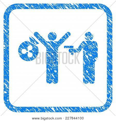 Ripple Thief Arrest Rubber Seal Stamp Watermark. Icon Vector Symbol With Grunge Design And Dirty Tex