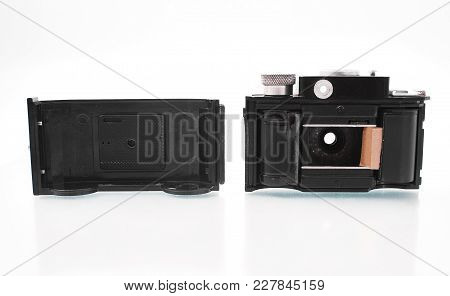 Gomel, Belarus - February 22, 2018: Film Camera 35 Mm Of The 1950S Manufactured By Smena.
