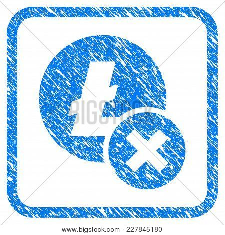 Wrong Litecoin Rubber Seal Stamp Imitation. Icon Vector Symbol With Grunge Design And Dust Texture I