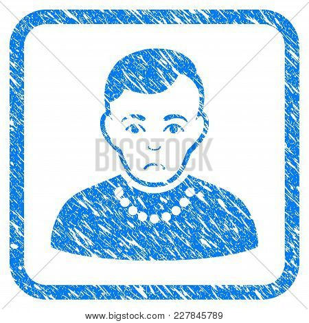 Trendy Guy Rubber Seal Stamp Watermark. Icon Vector Symbol With Grunge Design And Unclean Texture In
