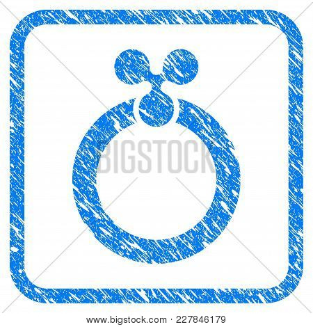 Ripple Ring Rubber Seal Stamp Imitation. Icon Vector Symbol With Grunge Design And Unclean Texture I