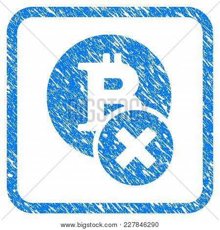 Wrong Bitcoin Rubber Seal Stamp Watermark. Icon Vector Symbol With Grunge Design And Dirty Texture I
