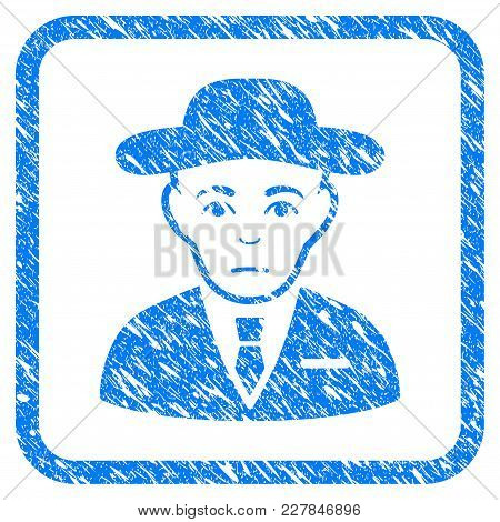 Secret Service Agent Rubber Seal Stamp Watermark. Icon Vector Symbol With Grunge Design And Dirty Te