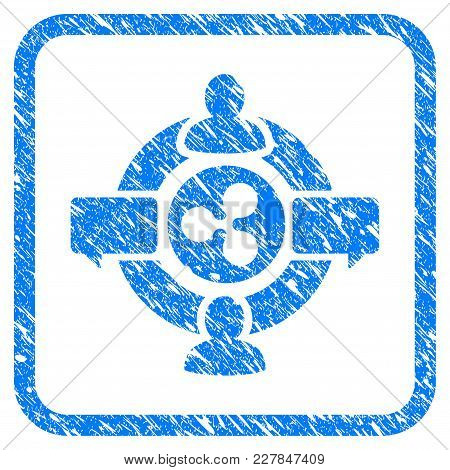 Ripple Social Network Rubber Seal Stamp Imitation. Icon Vector Symbol With Grunge Design And Corrosi