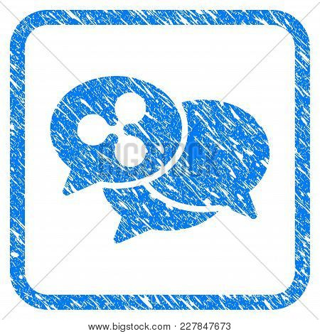 Ripple Webinar Rubber Seal Stamp Imitation. Icon Vector Symbol With Grunge Design And Unclean Textur