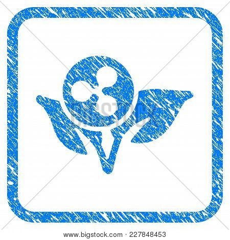 Ripple Sprout Startup Rubber Seal Stamp Imitation. Icon Vector Symbol With Grunge Design And Dirty T