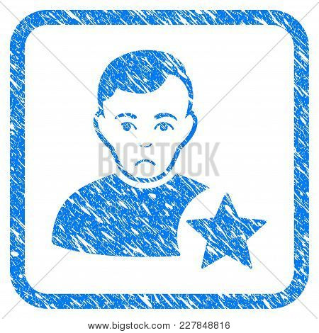 User Rating Star Rubber Seal Stamp Watermark. Icon Vector Symbol With Grunge Design And Corrosion Te