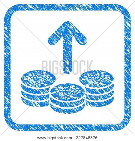 Spend Iota Coins Rubber Seal Stamp Watermark. Icon Vector Symbol With Grunge Design And Dust Texture