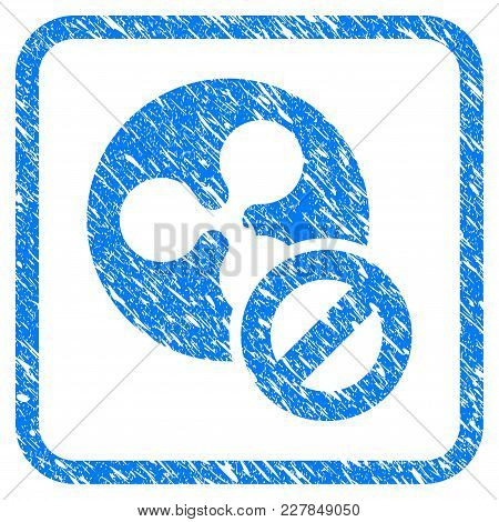 Wrong Ripple Coin Rubber Seal Stamp Watermark. Icon Vector Symbol With Grunge Design And Dirty Textu