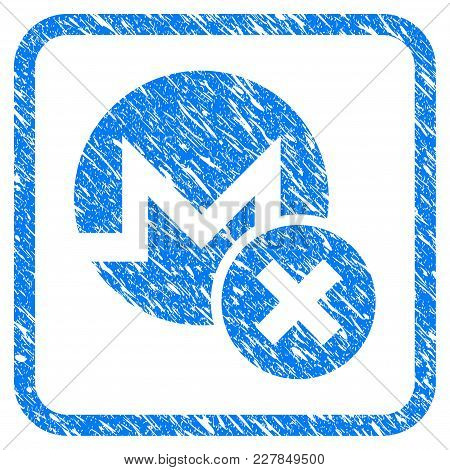 Wrong Monero Rubber Seal Stamp Imitation. Icon Vector Symbol With Grunge Design And Dirty Texture In