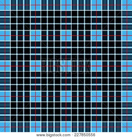 Scottish Cage, Blue Celtic. Scottish Blue Checkered Background. Scottish Pattern. Vector Illustratio