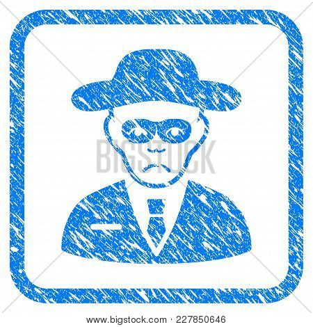 Security Agent Rubber Seal Stamp Watermark. Icon Vector Symbol With Grunge Design And Corrosion Text