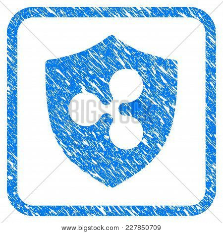 Ripple Shield Rubber Seal Stamp Watermark. Icon Vector Symbol With Grunge Design And Dirty Texture I