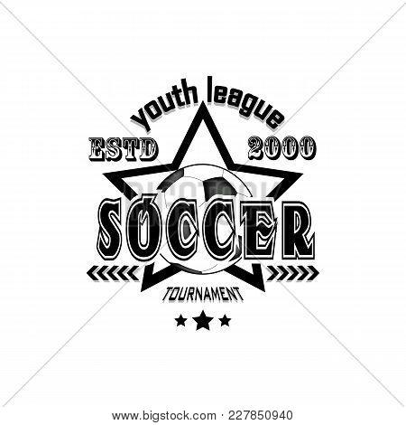 Soccer Logo Template Design. Football Logo. America League. Vector Illustration