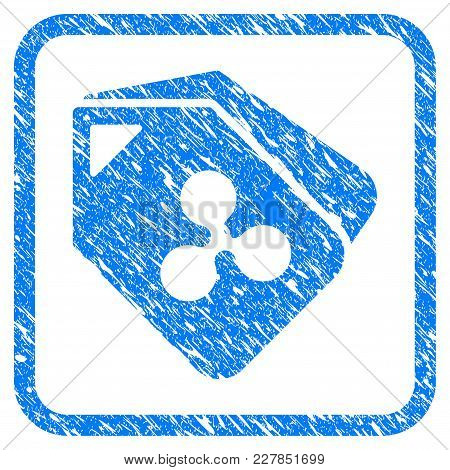Ripple Tags Rubber Seal Stamp Imitation. Icon Vector Symbol With Grunge Design And Corrosion Texture
