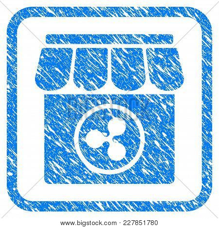 Ripple Shop Rubber Seal Stamp Watermark. Icon Vector Symbol With Grunge Design And Dust Texture Insi