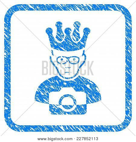 Thai King Rubber Seal Stamp Watermark. Icon Vector Symbol With Grunge Design And Dust Texture In Rou