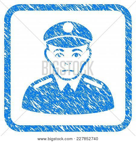 Soldier Rubber Seal Stamp Imitation. Icon Vector Symbol With Grunge Design And Corrosion Texture Ins
