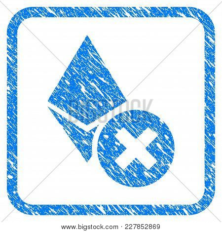 Wrong Ethereum Crystal Rubber Seal Stamp Watermark. Icon Vector Symbol With Grunge Design And Corros