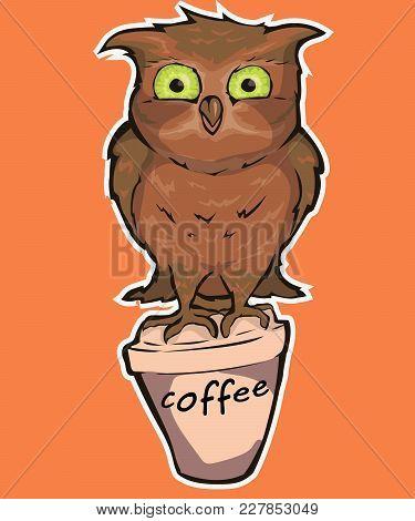 fb89759ab Cute Owl. Vector Owl, Cartoon Bird T-shirt Design,character Owl With