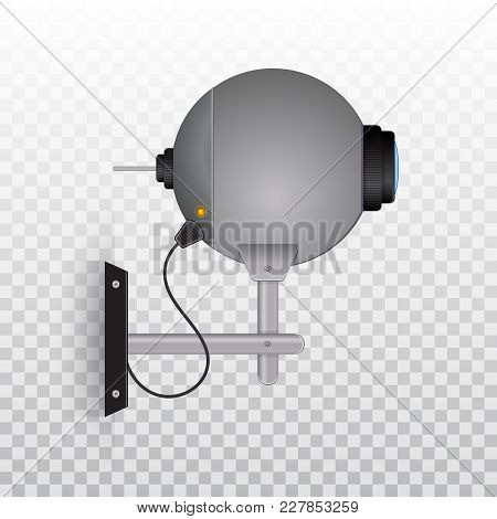 Outdoor Video Camera, Outdoor Cctv Camera. Videcam. Video Camera Security System. Vector Illustratio