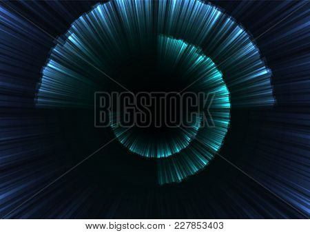 Blue Abstract Curve Shell Template, Radar Digital Overlap Layer Line, Technology Background, Vector