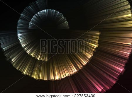 Multicolor Abstract Curve Shell Template, Radar Digital Overlap Layer Line, Technology Background, V
