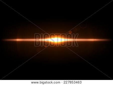 Explosion Effect. Optical Flare Object, Glowing Light Illustration