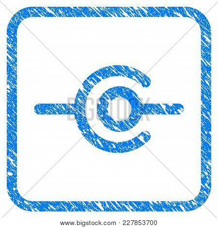 Wire Connection Rubber Seal Stamp Watermark. Icon Vector Symbol With Grunge Design And Corrosion Tex