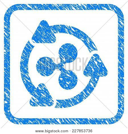 Ripple Turnover Rubber Seal Stamp Watermark. Icon Vector Symbol With Grunge Design And Corrosion Tex