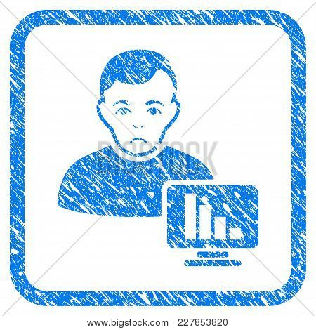 Stock Trader Rubber Seal Stamp Imitation. Icon Vector Symbol With Grunge Design And Corrosion Textur