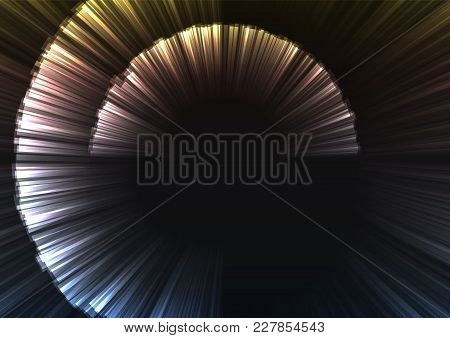 Metallic Abstract Curve Shell Template, Radar Digital Overlap Layer Line, Technology Background, Vec