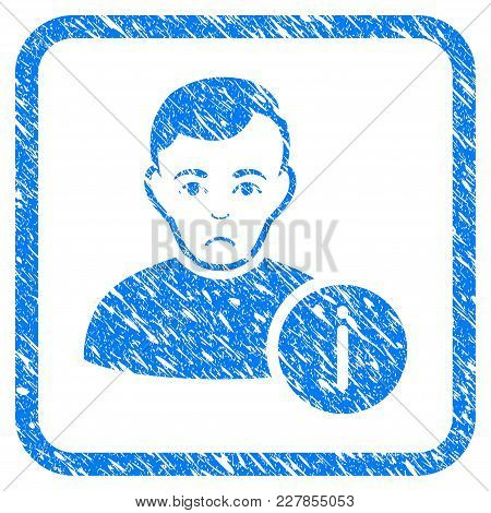 User Info Rubber Seal Stamp Watermark. Icon Vector Symbol With Grunge Design And Corrosion Texture I