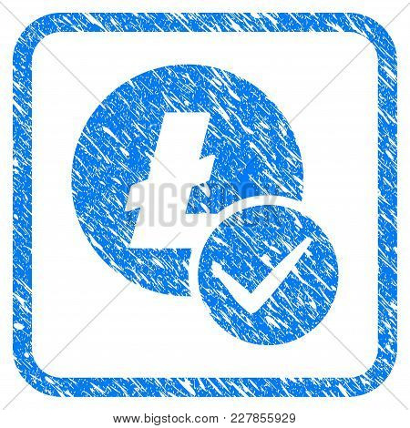 Valid Litecoin Rubber Seal Stamp Imitation. Icon Vector Symbol With Grunge Design And Corrosion Text