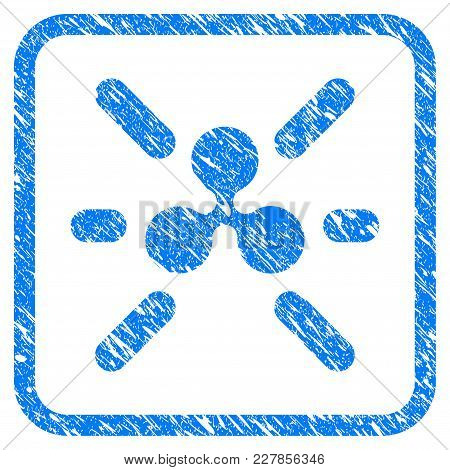 Ripple Shine Rubber Seal Stamp Watermark. Icon Vector Symbol With Grunge Design And Dust Texture In