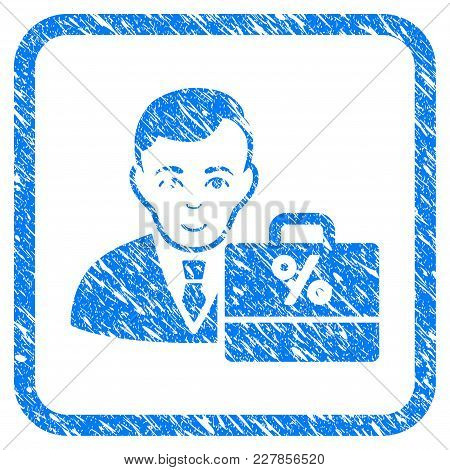 Tax Accounter Rubber Seal Stamp Imitation. Icon Vector Symbol With Grunge Design And Unclean Texture