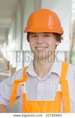 Smiling young worker